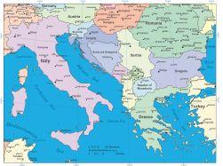 Europe Mediterranean Digital Vector Maps - Download Editable ...