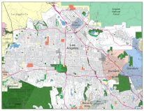 San Fernando Valley Digital Vector Maps Download Editable